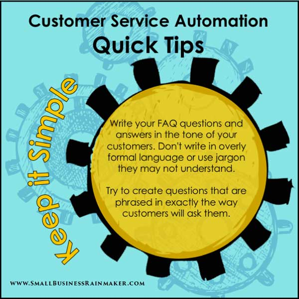use faqs for customer service automation