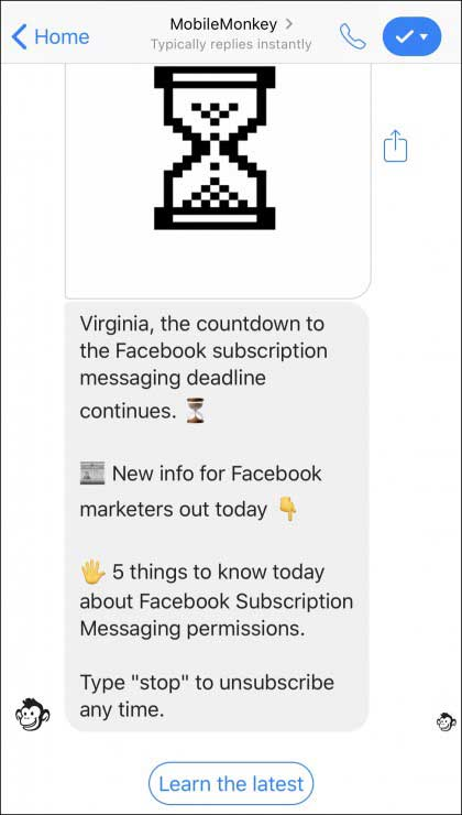 use messenger marketing for customer updates