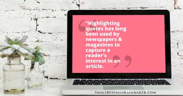 use quotes in images to improve blog posts