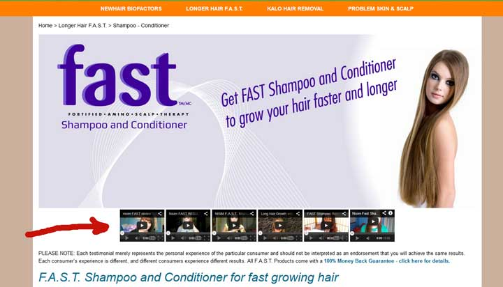 using testimonial videos haircare industry