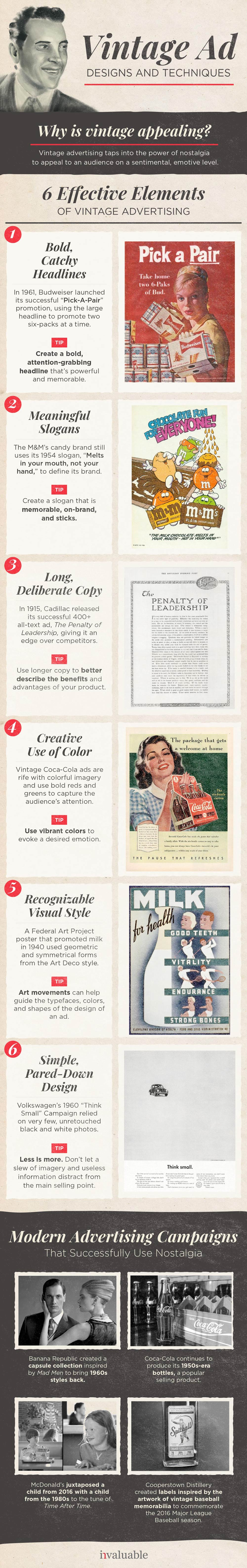 vintage ads visual marketing design